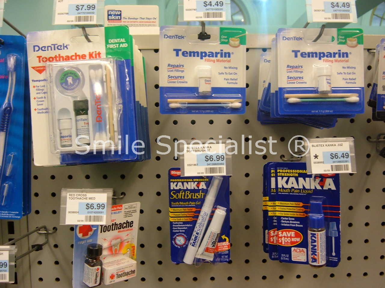 Pharmacies often stock Temporary Cements/Filling Kits
