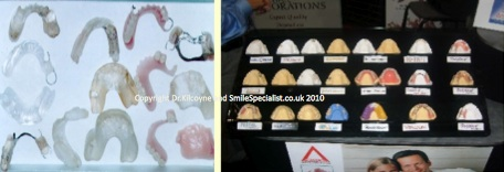 A large variety of Denture Designs and Materials available