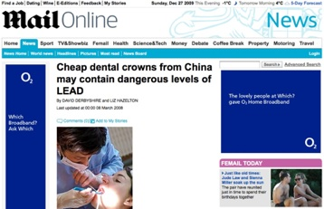 Lead in Crowns made Abroad