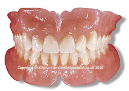 Complete Dentures depend upon gripping the Gums only